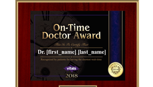 On-Time Physician Award - 2018